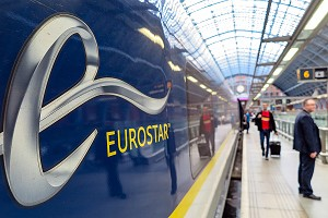 TRAIN EUROSTAR, GARE DE SAINT-PANCRAS, LONDRES, GRANDE-BRETAGNE, EUROPE