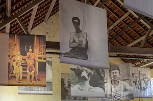 PHOTOS DES BAGNARDS, MUSEE DU CAMP DE LA TRANSPORTATION, SAINT-LAURENT DU MARONI, GUYANE FRANCAISE, DEPARTEMENT-REGION D'OUTRE-MER, AMERIQUE DU SUD, FRANCE