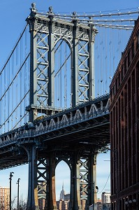 VUE DU PONT DE MANHATTAN, QUARTIER DE BROOKLYN, NEW-YORK, ETATS-UNIS, USA