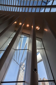 INTERIEUR DE L'OCULUS, GARE FUTURISTE DU ONE WORLD TRADE CENTER, MANHATTAN, NEW-YORK, ETATS-UNIS, USA