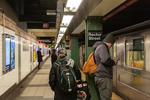 METRO A LA RECTOR STREET, MANHATTAN, NEW-YORK, ETATS-UNIS, USA