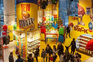 BOUTIQUE DE BONBONS MM'S, TIMES SQUARE, MANHATTAN, NEW-YORK, ETATS-UNIS, USA