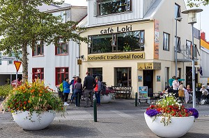 CAFE LOKI, NOURRITURE TRADITIONNELLE ISLANDAISE (VIKING), REYKJAVIK, ISLANDE, EUROPE
