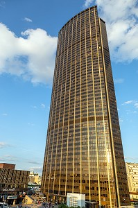 LA TOUR AU COUCHER DU SOLEIL, QUARTIER DE LA TOUR MONTPARNASSE, 15 EME ARRONDISSEMENT, PARIS, FRANCE