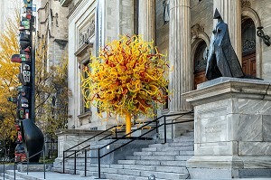 ENTREE DU MUSEE DES BEAUX-ARTS, RUE SHERBROOKE, MONTREAL, QUEBEC, CANADA