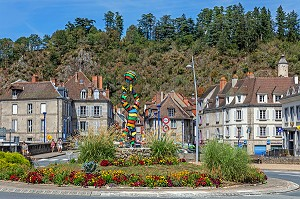ROND POINT DE LA MAURICE DAYRAS, VILLE D'AUBUSSON, CREUSE, FRANCE