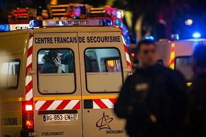 ATTENTAT DE PARIS AU BATACLAN COMMIS PAR DES MEMBRES DE DAESH, ETAT ISLAMIQUE, 11 EME ARRONDISSEMENT, PARIS (75), ILE DE FRANCE, FRANCE