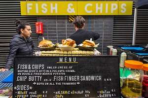 ILLUSTRATION FISH AND CHIPS, LONDRES, ANGLETERRE