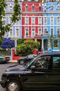 MAISON COLOREE PRES DE PORTOBELLO ROAD, PORTOBELLO MARKET, QUARTIER DE NOTTING HILL, LONDRES, ANGLETERRE