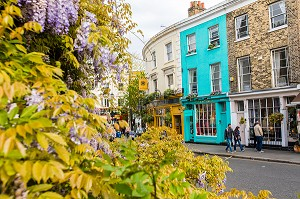 PORTOBELLO ROAD, PORTOBELLO MARKET, QUARTIER DE NOTHING, HILL, LONDRES, ANGLETERRE