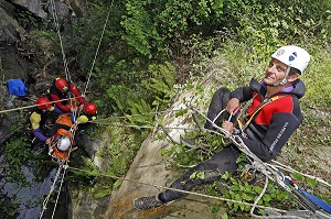 FORMATION CANYONING, EQUIPE GRIMP ET SPELEO 64, FRANCE